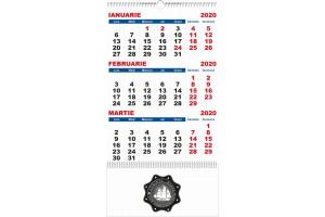 Calendar de perete 2020, 4 file, personalizabil