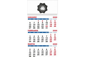 Calendar de perete 2020, 4 file, personalizabil sus