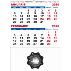 Calendar de perete 2020, 6 file, personalizabil