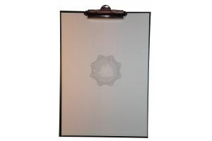 Clipboard A4 Portrait, mecanism clema, Verde, Imitatie piele