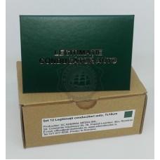 Set 12 Legitimatii conducator auto agreate ARR, Verde, 7x10cm
