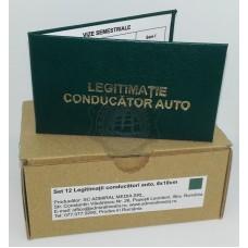 Set 12 Legitimatii conducator auto agreate ARR, Verde, 6x10cm