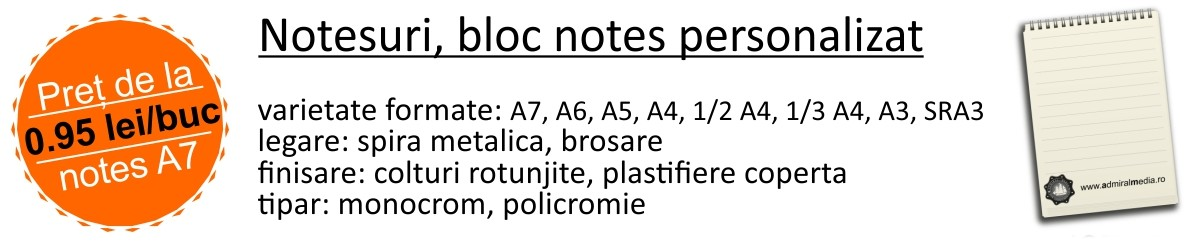 Notesuri, bloc notesuri personalizate