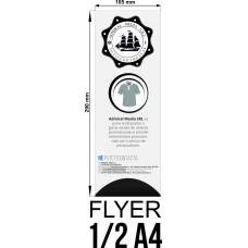 Set 50 flyere personalizate 1/2 A4