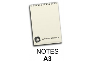 Notesuri, bloc notes personalizat A3
