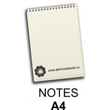 Notesuri, bloc notes personalizat A4