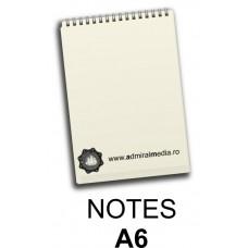 Notesuri, bloc notes personalizat A6