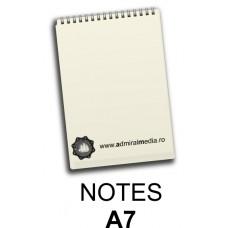 Notesuri, bloc notes personalizat A7