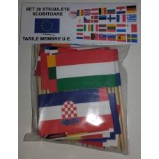 Set 30 stegulete scobitoare tari membre UE