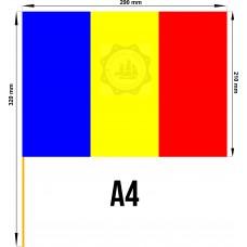 Set 50 stegulete Romania tricolore A4
