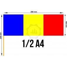 Set 50 stegulete Romania tricolore 1/2 A4