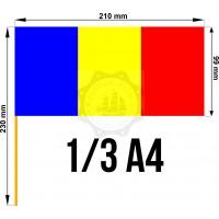 Set 50 stegulete Romania tricolore 1/3 A4