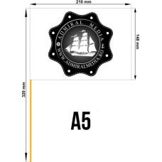 Set 50 stegulete de hartie A5 personalizate