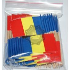 Set 50 stegulete scobitoare Romania tricolore decorative