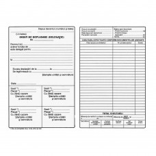 Ordin de deplasare/delegatie, A5, 100 file